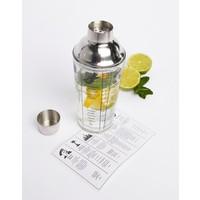 Cocktail shaker met recepten