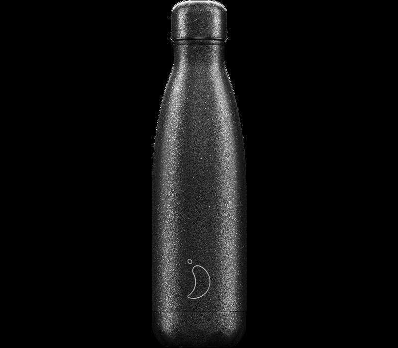 Chilly's bottle 500ml Black Glitter