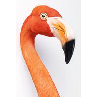 Wanddecoratie- Flamingo uit de muur