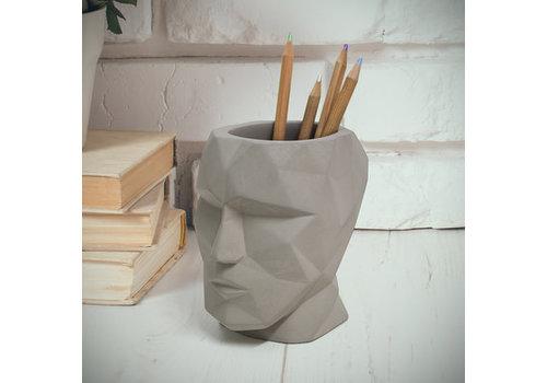 Balvi Pen houder The Head grijs