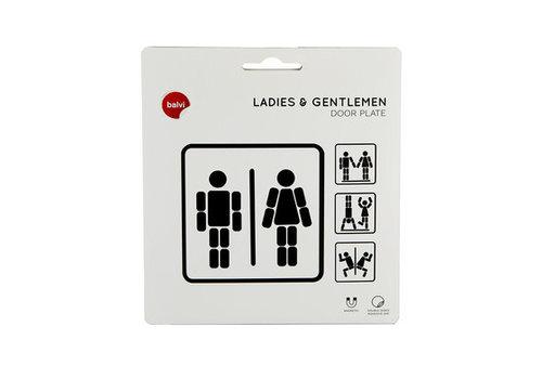Balvi Magnetisch deurbordje Ladies-Gentlemen