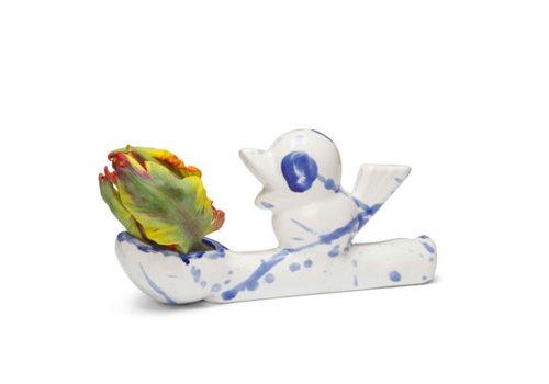 Jasmin Djerzic Vaasje Flower thief- Delftsblauw
