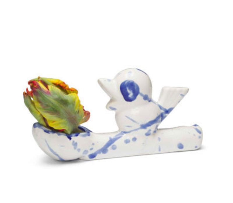 Vaasje Flower thief- Delftsblauw