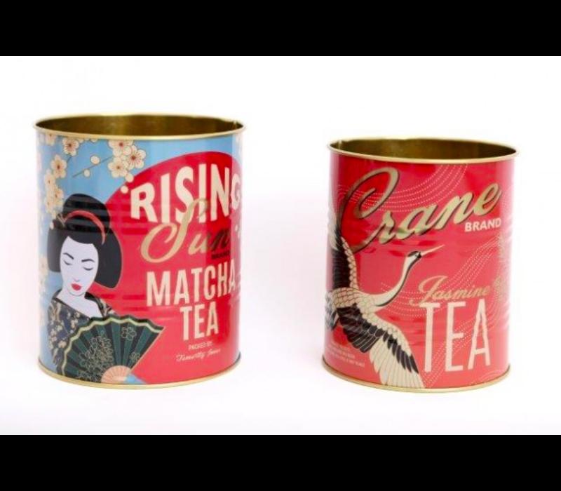 Set van twee Geisha blikken
