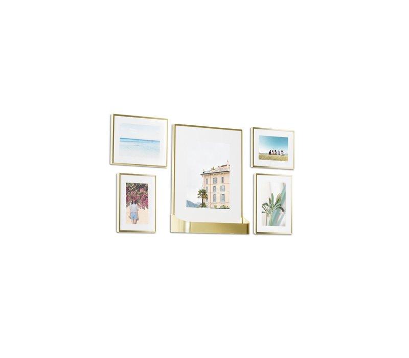 Matinee- set fotolijsten goud