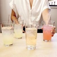 Glazen rietjes met borsteltje