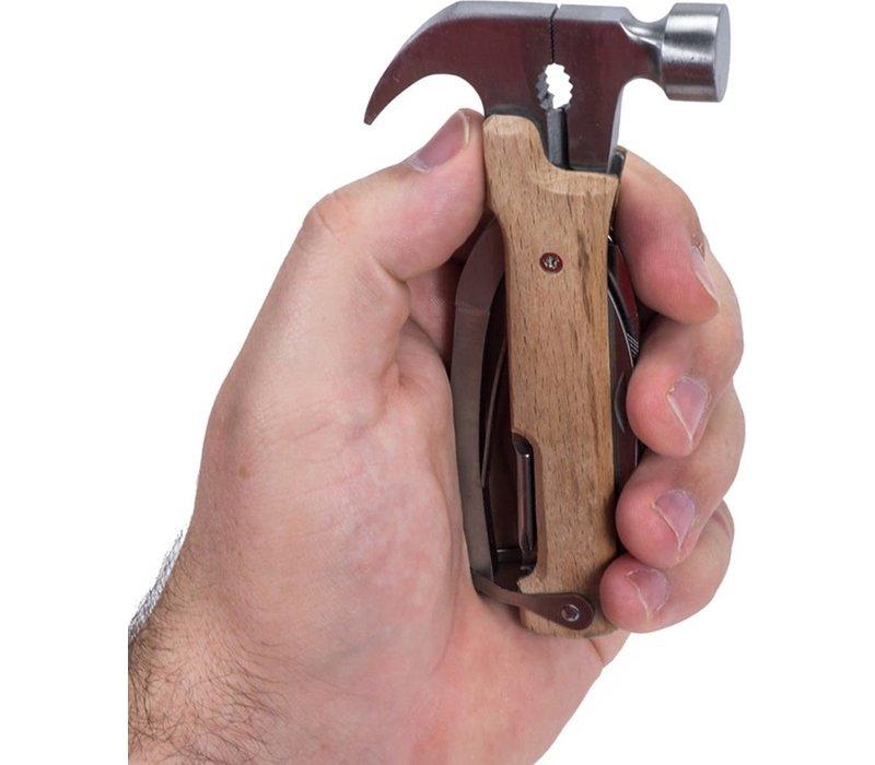 Houten mini gereedschappen aan sleutelhanger-zwart