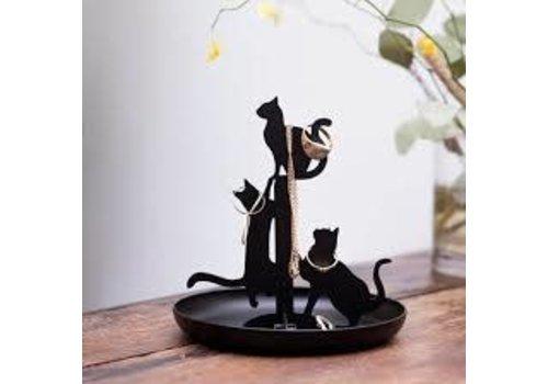 Kikkerland Sieradenstandaard- katten