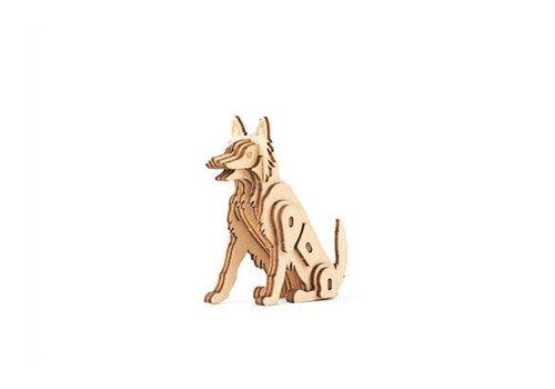 Kikkerland 3D houten puzzel hond