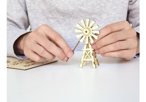 Kikkerland Windmill 3D wooden puzzle
