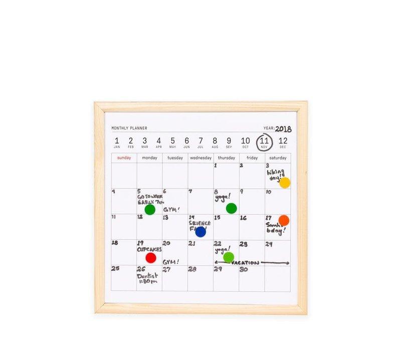 Mini uitwisbare maand /jaar kalender