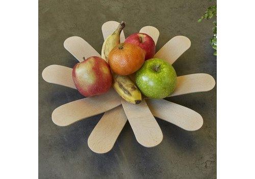 Kikkerland Boomerang wood bowl