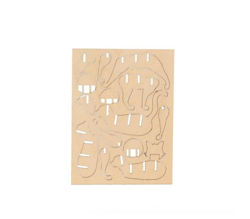 3D houten puzzeltje kat