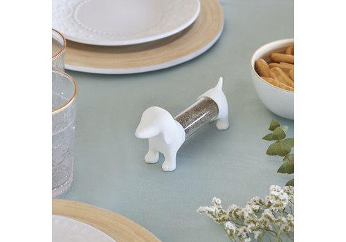 Balvi Teckel white toothpick holder salt pepper shaker