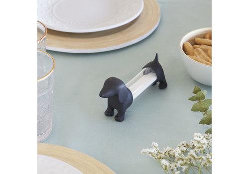 Balvi Teckel black toothpick holder salt  pepper shaker