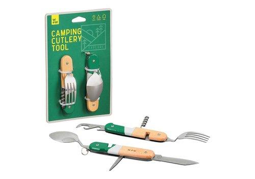 Wild & Wolf Camping Cutlery Tool | Opvouwbaar Kampeer Bestek