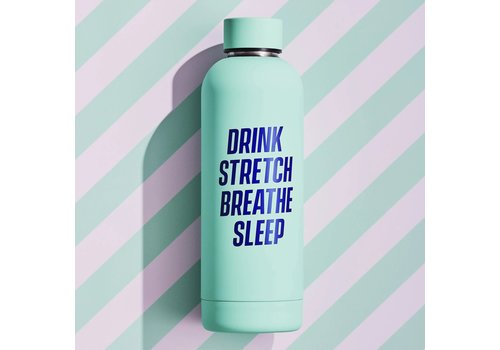 Wild & Wolf Water Bottle | Drink Stretch Breathe Sleep | Drinkfles