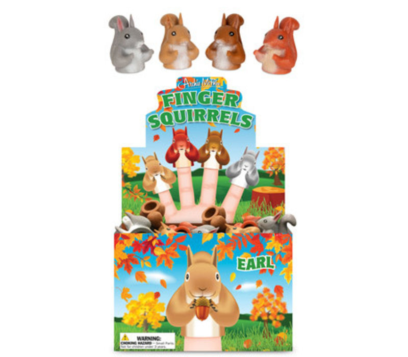 Vingerpoppetje - Squirrel - Eekhoorn