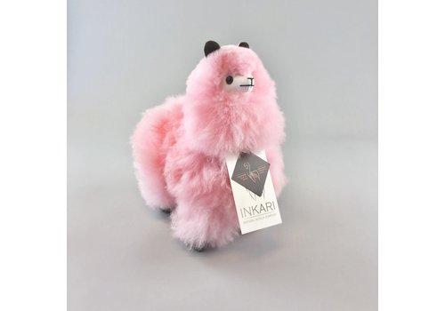 Inkari Alpaca klein roze suikerspin