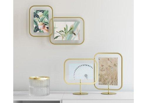 Infinity Square | 10x15 cm | mat brass/goud