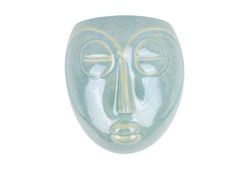 Present Time Wall Plant Pot Mask | Green