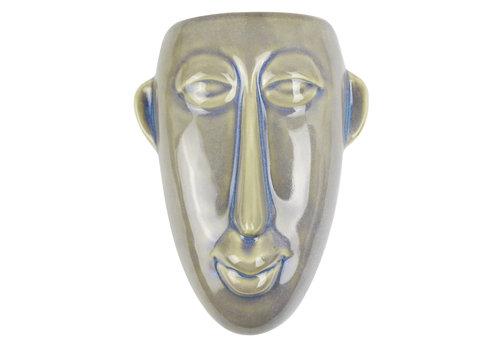 Present Time Wall Plant Pot Mask | Long | Green
