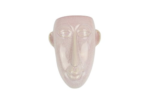 Present Time Wall Plant Pot Mask | Long |Pink