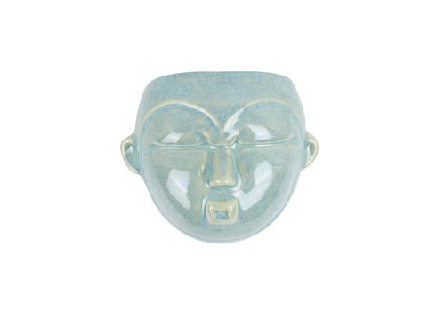 Present Time Wall Plant Pot Mask | Round | Green