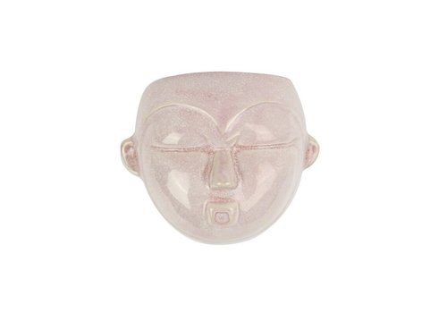 Present Time Wall Plant Pot Mask | Round |Pink