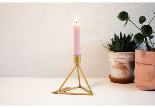 Housevitamin Metal candle holder Triangle off Gold
