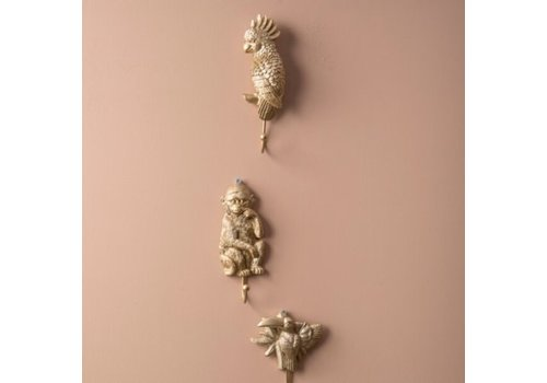 Housevitamin Wall Hook Palm Tree Gold 13x6.5x1