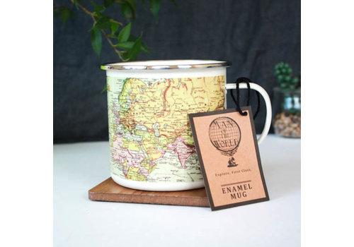 Cortina Man Of The World | Pale Enamel mug | Emaille Mok
