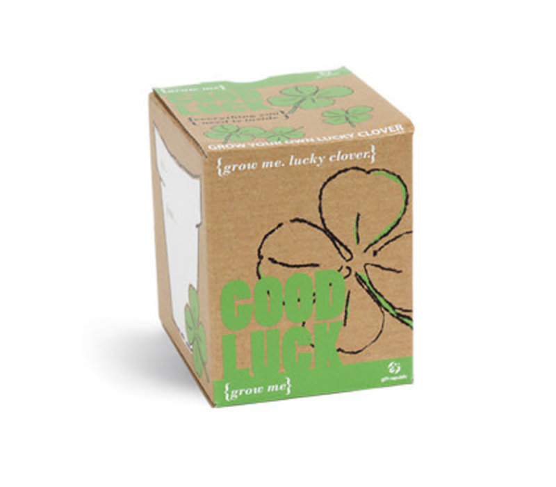 Plantje Grow me - Good Luck Klavertje 4