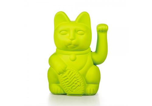 Donkey Lucky Cat - neon green