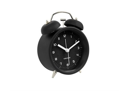 Present Time Alarm Clock | Classic Bell |Black With Gold