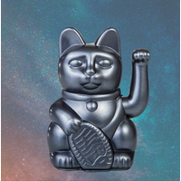 Lucky Cat - metallic grey