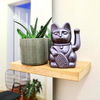 Donkey Lucky Cat - metallic grey