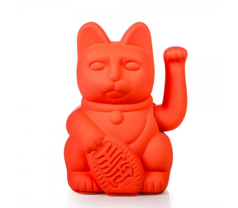 Lucky Cat - neon pink