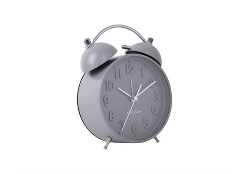 Present Time Alarm clock Iconic | Matt grey | wekker