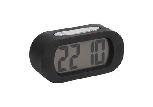 Present Time Alarm clock Gummy | rubber. black | wekker