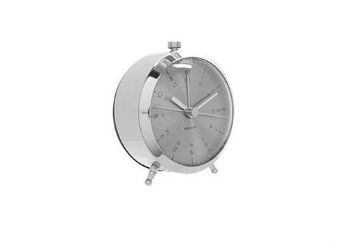 Present Time Alarm Clock Button | Brushed Steel