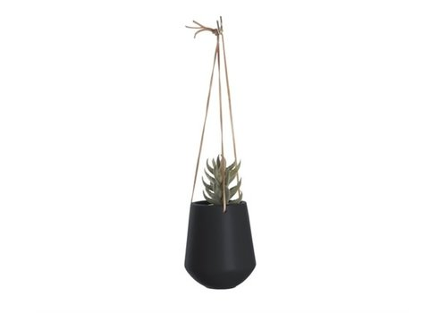 Present Time Hanging Pot Skittle | Medium | Black