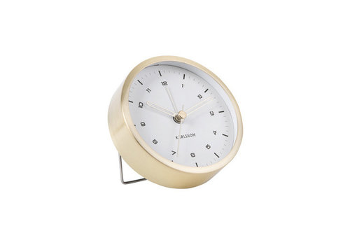 Present Time Alarm clock Tinge | brushed gold white dial | wekker