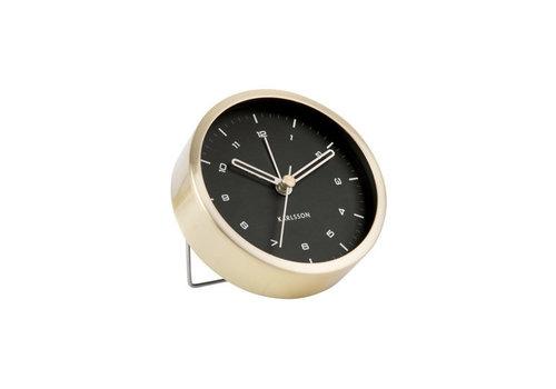 Present Time Alarm clock Tinge | brushed gold black dial | wekker