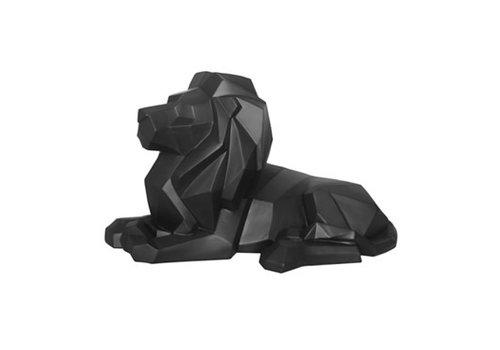 Present Time Statue Origami Lion Matt Black
