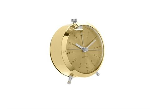 Present Time Alarm Clock Button | Brass Plated