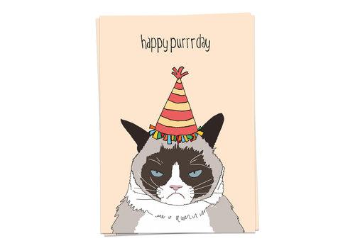 Kaart Blanche Happy Purrrday