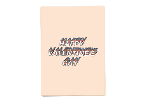 Kaart Blanche Happy Valentine's Gay