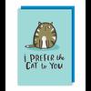 Lucy Maggie Designs Wenskaart Prefer the cat