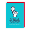 Lucy Maggie Designs Wenskaart Toilet